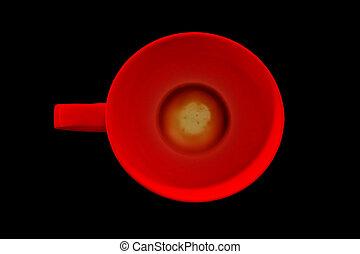 背景, 咖啡, 黑色, 杯子