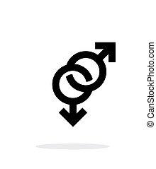背景。, 图标, 白色, 同性恋
