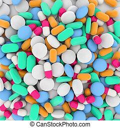 背景, 在中, 药物