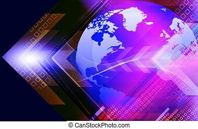 背景, 地球の概要, デジタル, 矢