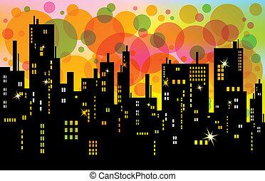 背景, 城市
