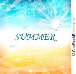 背景, 夏, 白熱, 休日, 壁紙