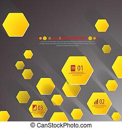 背景, 多角形, 切口, paper-, デザイン, template., ベクトル, イラスト, ∥ために∥,...