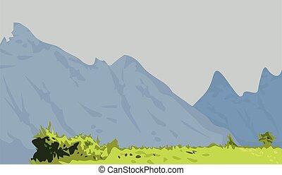 背景, 山の景色