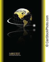 背景, 带, 金子, 全球