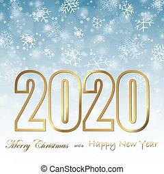 背景, 年, クリスマス, 2020, 秋, 新しい, 雪