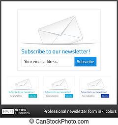 背景, 形態, ライト, ボタン, 予約購読しなさい, 4, 調子, 白, newsletter, 寒い
