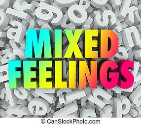 背景, 感情, 感觉, 复杂, 信件, 混合, 混乱