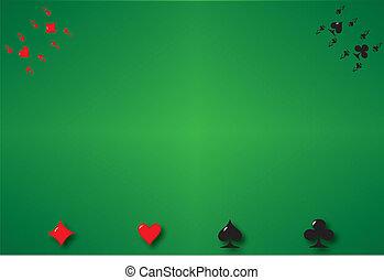 背景, 扑克牌