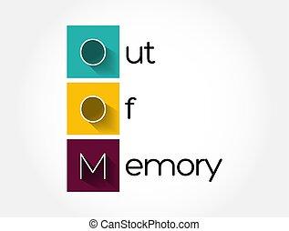 背景, 技術, 記憶, oom, 概念, から, -, 頭字語