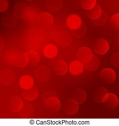 背景, 抽象的, クリスマス, 赤灯
