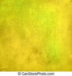 背景, 抽象的, グランジ, 黄色, 手ざわり