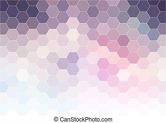 背景, 抽象的, ベクトル, 六角形