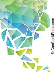 背景, 抽象的, ベクトル, 多角形