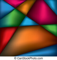 背景, 抽象的, 三角形, 色, イラスト