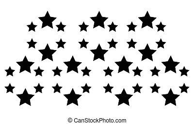 背景, 抽象的, 星, スタイル, コレクション