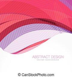背景, 抽象的, 波, ベクトル, デザイン, テンプレート
