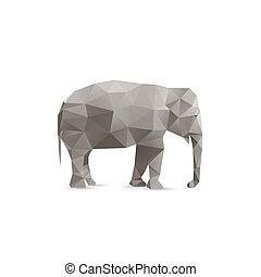 背景, 抽象的, 象, 隔離された, 白