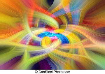 背景, 抽象的, 黄色, 調子, オレンジ, 緑, 赤, 青