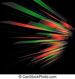 背景, 抽象的, effect., ライト