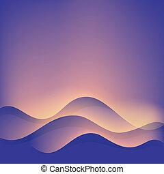 背景。, 摘要, 波浪