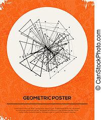 背景。, 摘要, retro, 幾何學