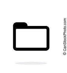 背景。, 文件夹, 白色, 图标