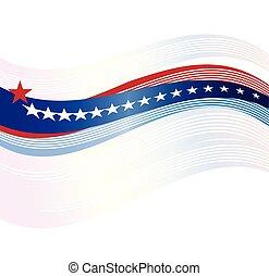 背景, 旗, 美國人, 矢量