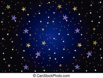 背景, 星