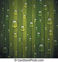 背景, 木手ざわり, eps10, ベクトル, 緑