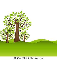 背景, 木