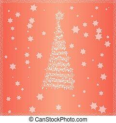 背景, 木, クリスマス, 赤
