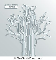 背景, 木, 抽象的, -, ベクトル, 板, 回路