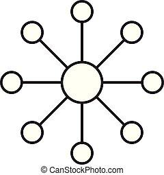 背景。, 标志。, 白色, 结构, 图标