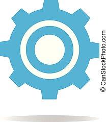 背景。, 标志。, 白色, 齿轮, 图标
