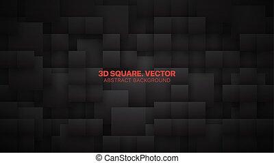 背景, 概念, 3d, 抽象的, 正方形, 別, ベクトル