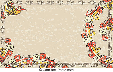 背景, 横, aztec
