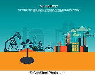 背景, 油, 套间, 工业