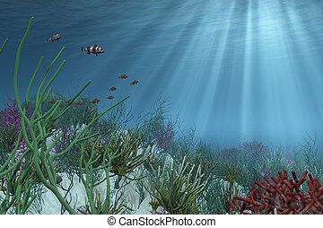 背景, 海面以下