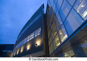 背景, 現代建物