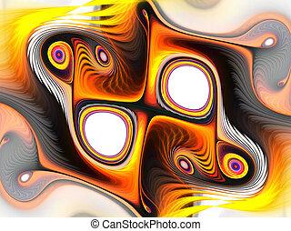 背景, 現代, 芸術的, swirls., ファンタジー, 美しい, 動的