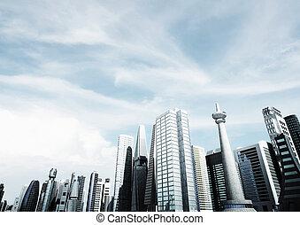 背景, 現代, 都市