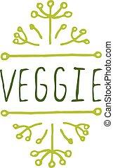 背景, 產品, 白色,  veggie, 標簽