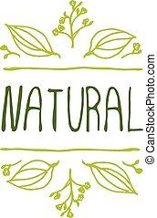背景, 產品, 自然, 白色, 標簽
