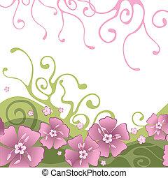 背景, 由于, 花