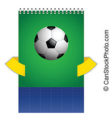 背景, 由于, a, 特別, 足球, 設計, 矢量