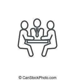 背景, 白色, 会议, 线, 图标