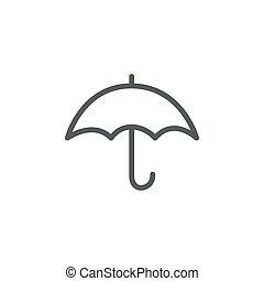 背景, 白色, 图标, 线, 伞