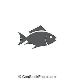 背景, 白色, 图标, fish