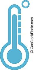 背景。, 白色, 温度计, 图标